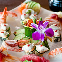 The Cultured Pearl Sushi Plate