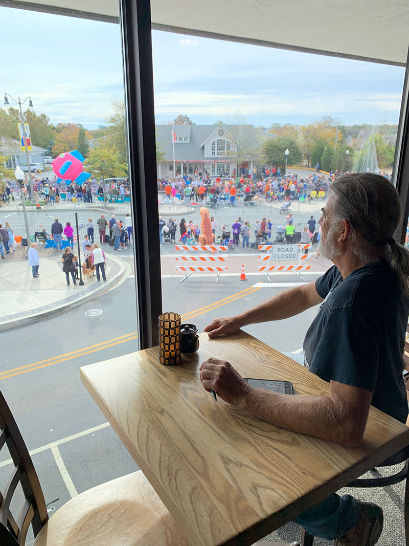 Sea Witch Festival 2019 Parade viewed from the Cultured Pearl dinning room