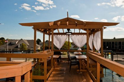 The Cultured Pearl Rooftop Kio Pond and Gazebo Deck