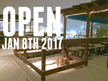 Open with Snow! Let's warm up together! Happy Hour is 4pm - 6pm