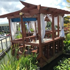The Cultured Pearl Restaurant & Sushi Bar Rooftop Pond Gazebo